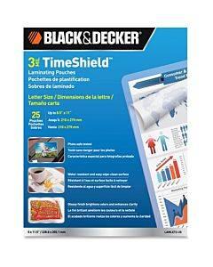 Black & Decker 3 Mil Timeshield Letter-size Laminating Pouches