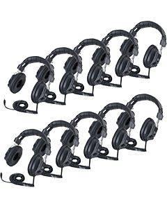 Califone 3068av-10l Switchable Headphones Classpack