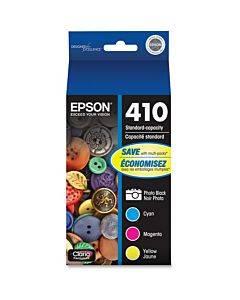 Epson Durabrite Ultra 410 Original Ink Cartridge - Photo Black, Cyan, Magenta, Yellow