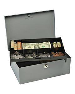 Mmf Heavy-gauge Steel Cash Box With Lock