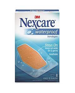 Nexcare Waterproof Bandages - Knee And Elbow - 8/pack