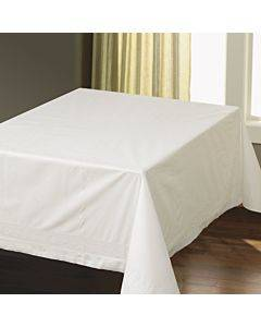 """Tissue/poly Tablecovers, Square, 82"""" X 82"""", White, 25/carton"""
