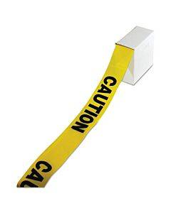 """Site Safety Barrier Tape, """"caution"""" Text, 3"""" X 1000ft, Yellow/black"""