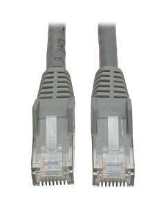 Tripp Lite 1ft Cat6 Gigabit Snagless Molded Patch Cable Rj45 M/m Gray 1'