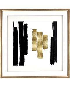 Lorell Blocks Design Framed Abstract Artwork