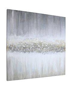 Lorell Raining Sky Design Framed Abstract Art