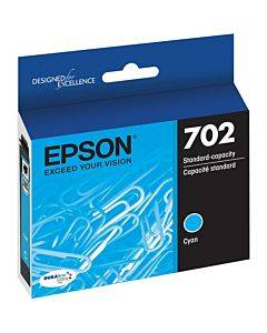 Epson Durabrite Ultra T702 Original Ink Cartridge - Cyan