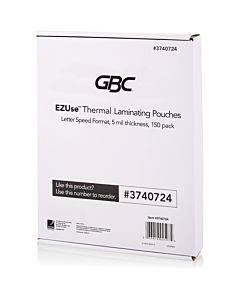 Swingline Gbc Ezuse Thermal Laminating Pouches