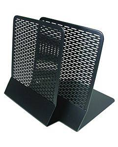 Artistic (2) Urban Collection Punched Metal Bookends (pair), Black