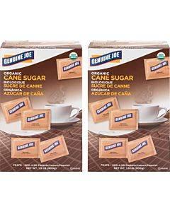 Genuine Joe Turbinado Natural Cane Sugar Packets