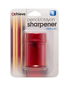 Oic Double Barrel Pencil/crayon Sharpener - 8/bx