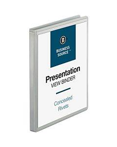 Business Source Standard View Round Ring Binders