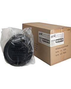 Genuine Joe Round Plastic Black Plates