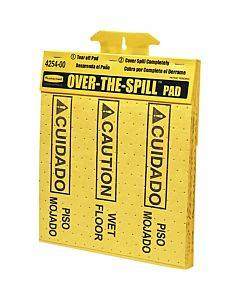 Rubbermaid Commercial Bilingual Over-the-spill Pads