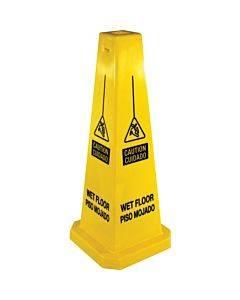 Genuine Joe Bright 4-sided Caution Safety Cone