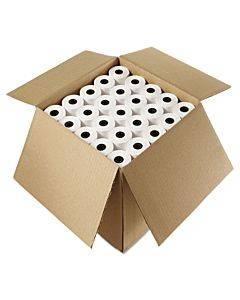 "Impact Bond Paper Rolls, 3"" X 85 Ft, White, 50/carton"