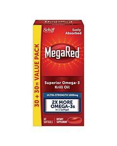 Ultra Strength Omega-3 Krill Oil Softgel, 60 Count
