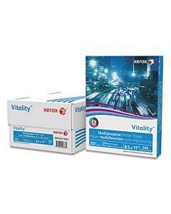 Vitality Multipurpose Print Paper, 92 Bright, 20lb, 8.5 X 11, White, 500 Sheets/ream, 3 Reams/carton