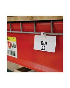 Wire Rack Shelf Tag, Side Load, 3.5 X 1.5, White, 10/pack