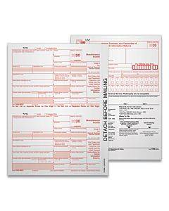5-part 1099-nec Tax Forms, 8.5 X 11, 50/pack