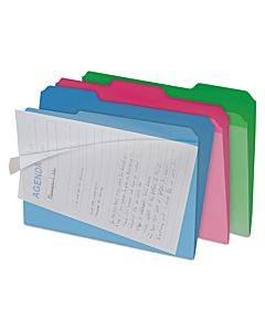 Clear View Interior File Folders, 1/3-cut Tabs, Letter Size, Assorted, 6/pack