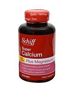 Schiff Super Calcium Magnesium With Vitamin D - 90 Softgels