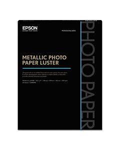 Professional Media Metallic Luster Photo Paper, 10.5 Mil, 8.5 X 11, White, 25/pack