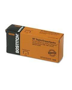 "B8 Powercrown Premium Staples, 0.25"" Leg, 0.5"" Crown, Steel, 5,000/box"