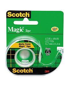 "Magic Tape In Handheld Dispenser, 1"" Core, 0.5"" X 37.5 Ft, Clear"