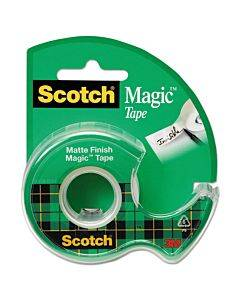 "Magic Tape In Handheld Dispenser, 1"" Core, 0.75"" X 25 Ft, Clear"