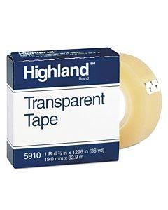 "Transparent Tape, 1"" Core, 0.75"" X 36 Yds, Clear"