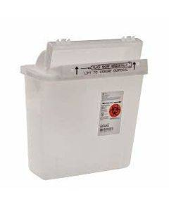 Sharpsafety Safety In-room Sharps Container With Counterbalance Lid 5 Quart Part No. 8506sa (20/case)