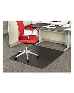 Supermat Frequent Use Chair Mat For Medium Pile Carpet, 45 X 53, Rectangular, Black