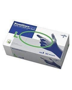 Sensicare Ice Nitrile Exam Gloves, Powder-free, Large, Blue, 250/box