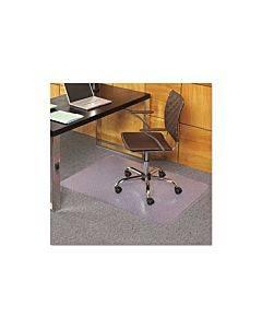 Everlife Chair Mats For Medium Pile Carpet, Rectangular, 36 X 44, Clear