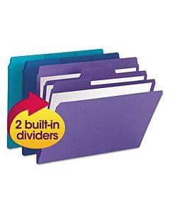 Supertab Organizer Folder, 1/3-cut Tabs, Letter Size, Assorted, 3/pack