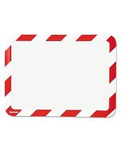 High Visibility Safety Frame Display Pocket-magnet Back, 10 1/4 X 14 1/2, Red/wh