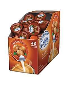 Flavored Liquid Non-dairy Coffee Creamer, Hazelnut, 0.4375 Oz Cup, 48/box