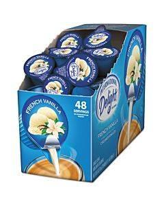 Flavored Liquid Non-dairy Coffee Creamer, French Vanilla, 0.4375 Oz Cup, 48/box