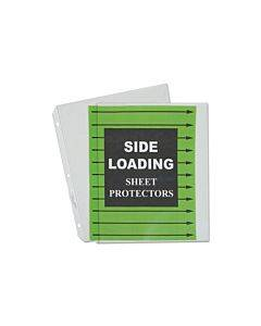 "Side Loading Polypropylene Sheet Protectors, Clear, 2"", 11 X 8 1/2, 50/bx"