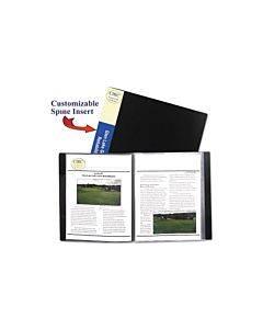 Bound Sheet Protector Presentation Book, 24 Sleeves, 11 X 8-1/2, Black