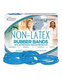 "Antimicrobial Non-latex Rubber Bands, Size 117b, 0.06"" Gauge, Cyan Blue, 4 Oz Box, 62/box"