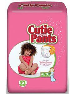 Cuties Refastenable Training Pants For Girls 3t-4t, Up To 32-40 Lbs. Part No. Cr8008 (92/case)