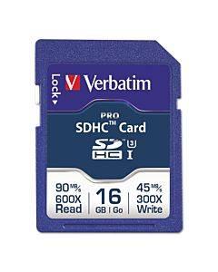 16gb Pro 600x Sdhc Memory Card, Uhs-i V30 U3 Class 10