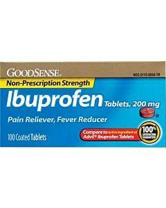 Ibuprofen Tablet, 200 Mg (100 Count) Part No. Lp13996 (100/box)