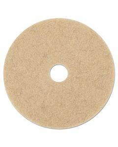 "Tan Burnishing Floor Pads, 17"" Diameter, 5/carton"