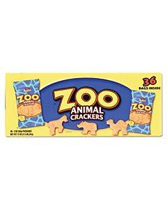 Zoo Animal Crackers, Original, 2 Oz Pack, 36 Packs/box