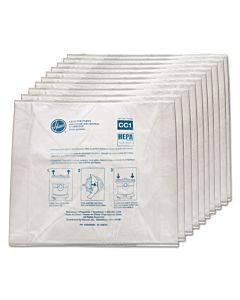 Disposable Vacuum Bags, Hepa Cc1, 10pk/ea