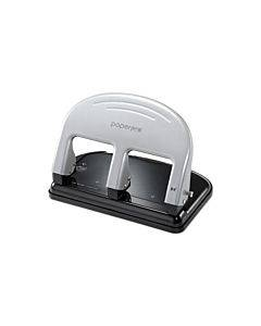Ez Squeeze Three-hole Punch, 40-sheet Capacity, Black/silver