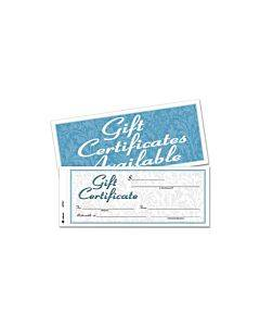 Gift Certificates W/envelopes, 8 X 3 2/5, White/canary, 25/book